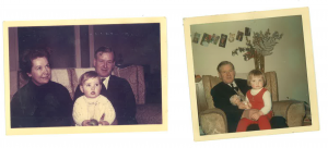Sue as a child with her dad, who inspired her to become an Admiral Nurse