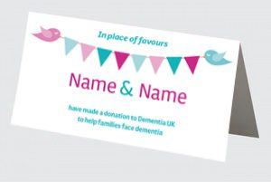 bunting place card