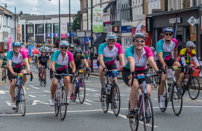 RideLondon cyclists