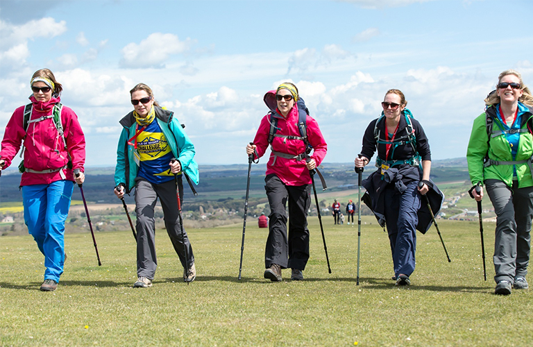 Five fundraisers on a hike