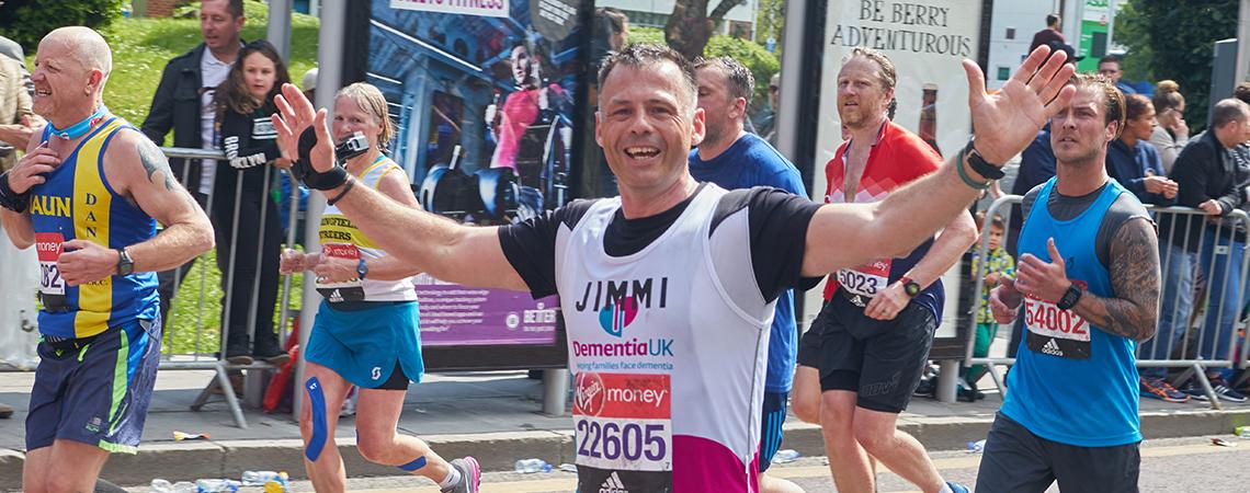 Dementia UK runner celebrating