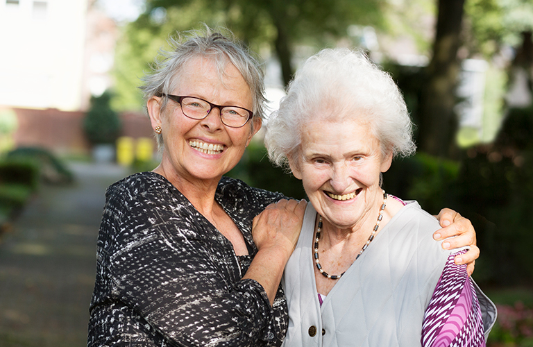 Person with dementia and carer