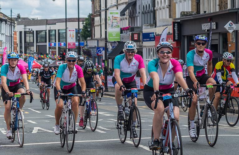 dementia fundraisers on bikes