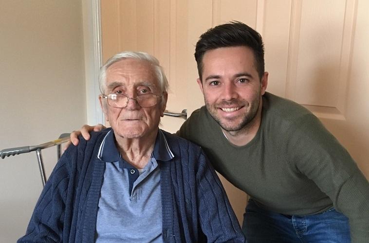 Dementia UK fundraiser with his grandad