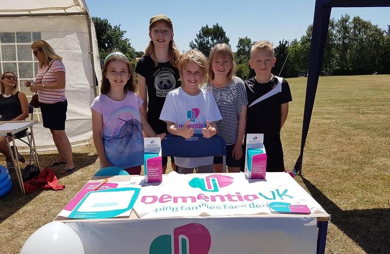 Children fundraising for Dementia UK