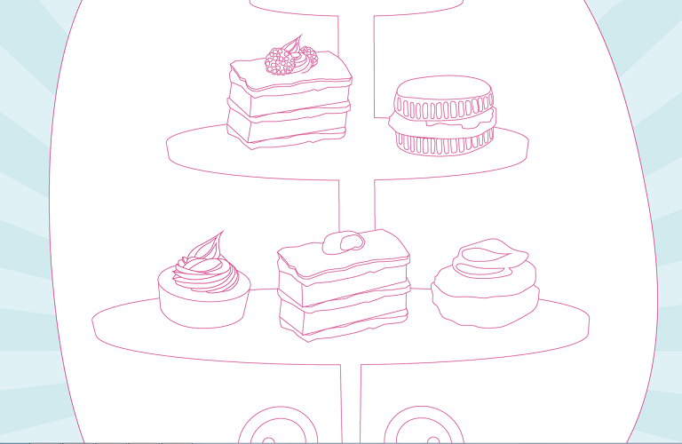 Cake colouring sheet