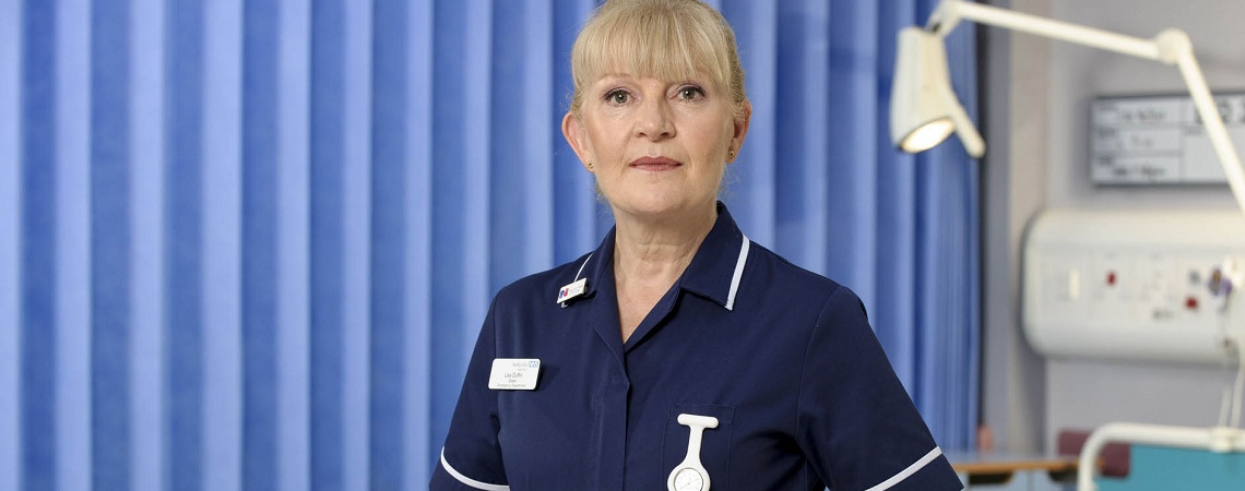 Duffy from TV show Casualty