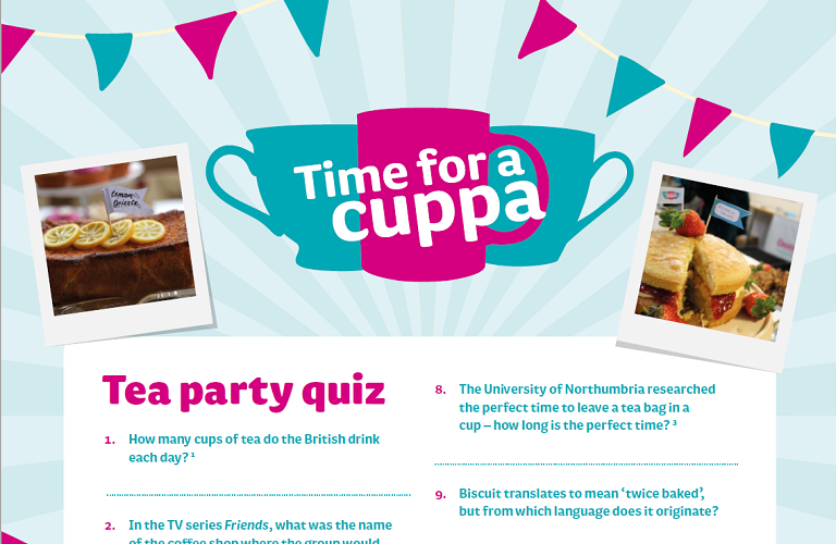 Time for a Cuppa quiz