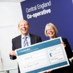 Hilda Hayo, CEO of Dementia UK, and Martyn Cheatle, CEO of Central England Co-operative