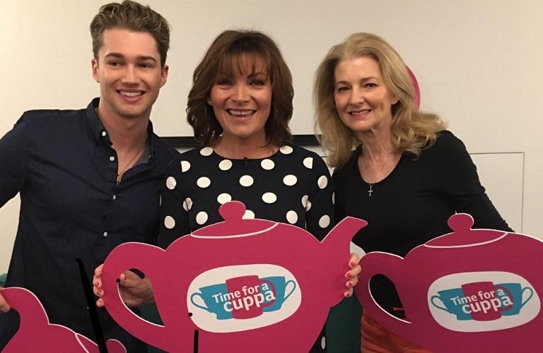 AJ Pritchard, Lorraine Kelly and Debbi Pritchard