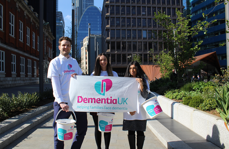Employees fundraising for Dementia UK