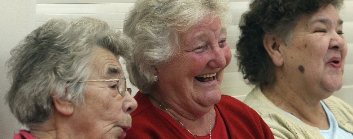 Three ladies laughing
