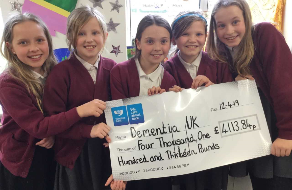 Fundraising children from Todmarden Primary School