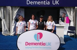 Dementia UK's stand at the Ladies Scottish Open