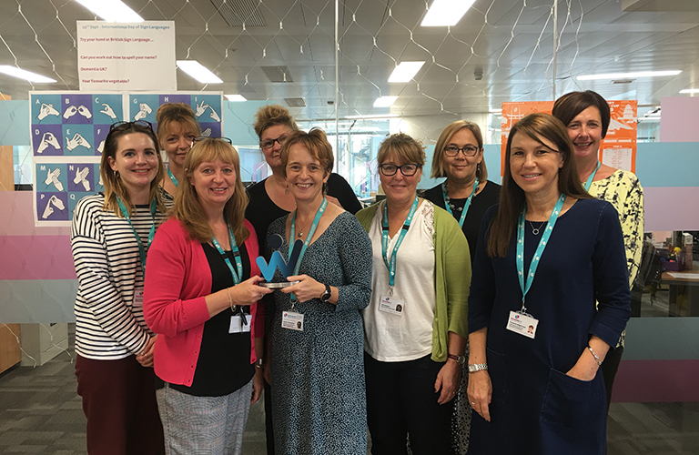 Dementia UK PPD team award