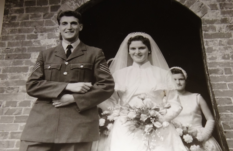 Geoff and Margaret on their wedding day
