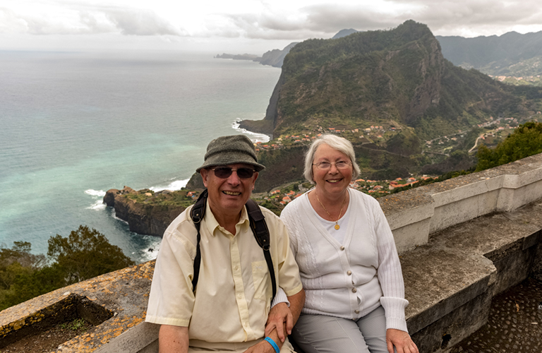 Arthur and his wife on holiday